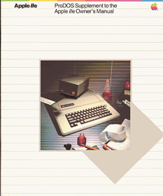 ProDOS Supplement to the Apple IIe Owner's Manual